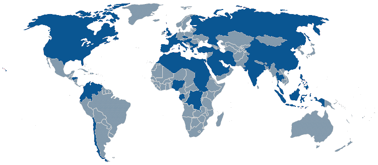 Countries where PAM executed projects