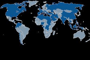 Länder in denen PAM Projekte ausgeführt hat